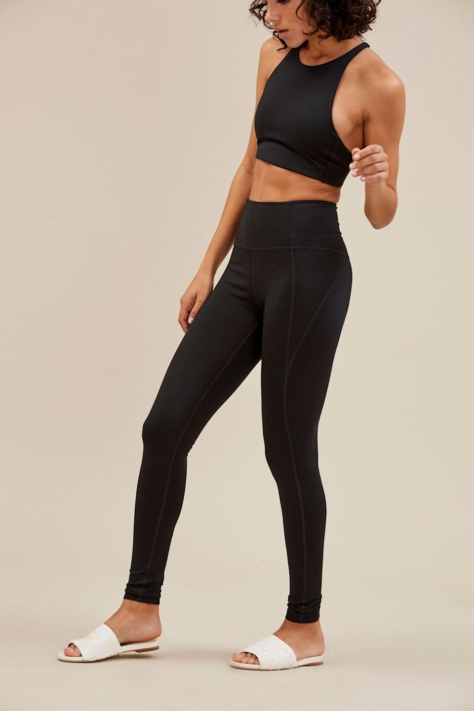 """<strong><h3>Girlfriend Collective: The """"So Good It Launched An Entire Brand"""" Legging</h3></strong> <br>Girlfriend Collective may have only launched in 2017, but thanks to these comfortable leggings made from <a href=""""https://www.refinery29.com/en-us/girlfriend-collective-leggings-lite-review"""" rel=""""nofollow noopener"""" target=""""_blank"""" data-ylk=""""slk:recycled plastic bottles"""" class=""""link rapid-noclick-resp"""">recycled plastic bottles</a>, it's already gained a cult following.<br><br><strong>The hype:</strong> 4.8 out of 5 stars and 2,644 reviews on Girlfriend Collective<br><br><strong>What they're saying:</strong> """"I saw the reviews too. I was skeptical too. I thought """"they're just a pair of leggings, why are people so obsessed?"""" too. But they are. They really are just the best leggings. They have the perfect amount of compression - enough to keep you together but not a battle to get in to. They're the perfect rise. They don't go sheer. They don't pill. They just work so well. I don't even notice I've sweat in these. I love."""" - Madeline G., Girlfriend Collective Review<br><br><strong>Girlfriend Collective</strong> Black Compressive High-rise Legging, $, available at <a href=""""https://www.girlfriend.com/collections/leggings/products/black-compressive-high-rise-legging"""" rel=""""nofollow noopener"""" target=""""_blank"""" data-ylk=""""slk:Girlfriend Collective"""" class=""""link rapid-noclick-resp"""">Girlfriend Collective</a><br><br><br><br><br>"""