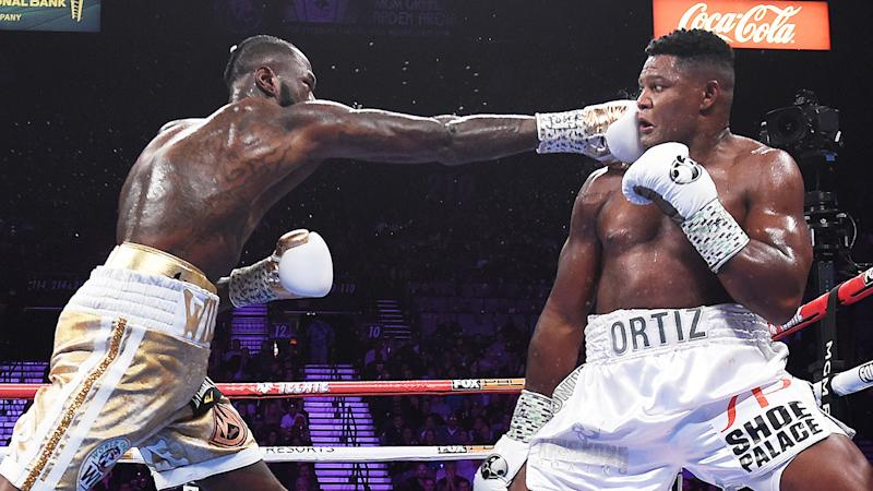 Luis Ortiz's fight was over as soon as Deontay Wilder landed a massive right hand flush.