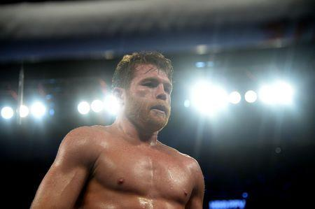 FILE PHOTO: Sep 15, 2018; Las Vegas, NV, USA; Canelo Alvarez walks back to his corner during the middleweight world championship boxing match against Gennady Golovkin (not pictured) at T-Mobile Arena. Alvarez won via majority decision. Mandatory Credit: Joe Camporeale-USA TODAY Sports/File Photo