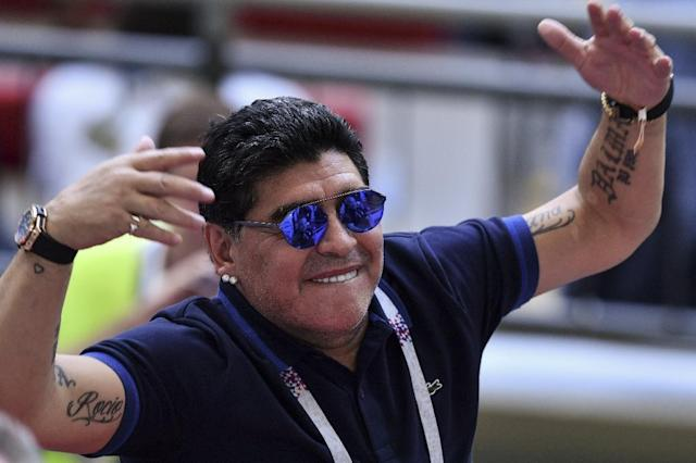 Maradona watched Argentina's World Cup debacle in Russia (AFP Photo/SAEED KHAN)