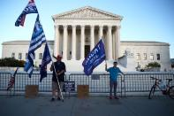 FILE PHOTO: Supporters of U.S. President Donald Trump protest outside the U.S. Supreme Court building in Washington