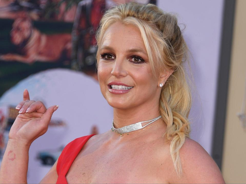 Britney Spears at the premiere of 'Once Upon a Time... in Hollywood' on 22 July 2019 in Hollywood, California (VALERIE MACON/AFP via Getty Images)