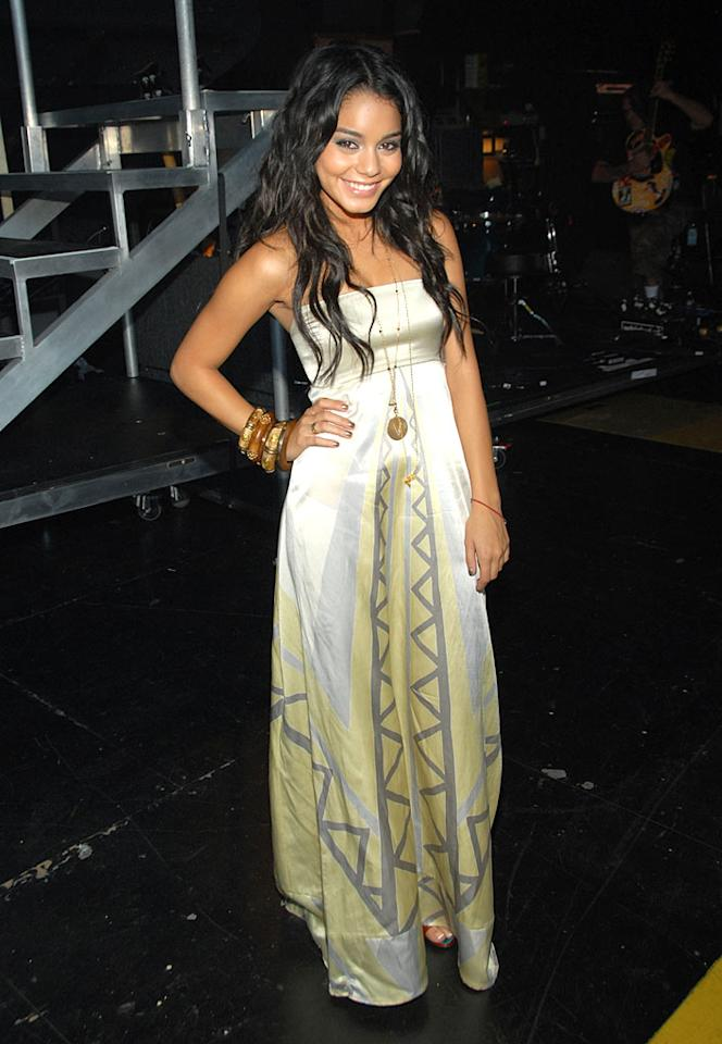 "Vanessa Hudgens is always adorable, but she should have had someone steam press this gown before wearing it to the Teen Choice Wards. Kevin Mazur/<a href=""http://www.wireimage.com"" target=""new"">WireImage.com</a> - August 26, 2007"