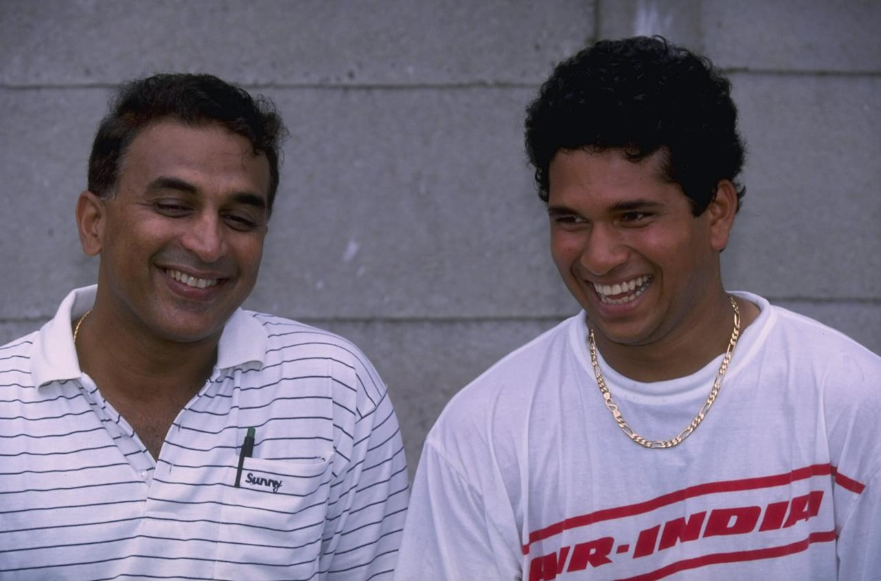 Nov 1992:  Portrait of Sunil Gavaskar (left) and Sachin Tendulkar of India in Durban during India's tour of South Africa.