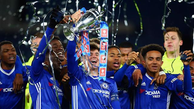 Chelsea won the FA Youth Cup for the fourth successive season on Wednesday and a selection of the team caught Antonio Conte's eye.