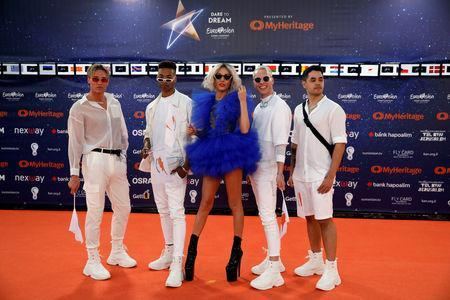 "Contestant Tamta of Cyprus poses on the ""Orange Carpet"" during the opening ceremony of the 2019 Eurovision Song Contest in Tel Aviv, Israel May 12, 2019. REUTERS/Amir Cohen"