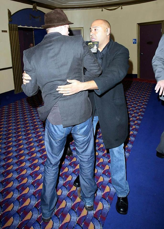 "Brad Pitt was manhandled by a security guard at the premiere of his own movie (""The Curious Case of Benjamin Button"") on Monday. MBF/<a href=""http://www.x17online.com"" target=""new"">X17 Online</a> - November 10, 2008"
