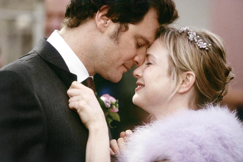 Colin Firth and Renée Zellweger in 'Bridget Jones: The Edge of Reason', 2004: Rex Features