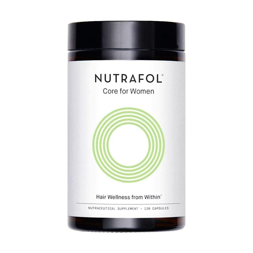 """<p><strong>Nutrafol</strong></p><p>amazon.com</p><p><strong>$88.00</strong></p><p><a href=""""https://www.amazon.com/dp/B00LU4CZP8?tag=syn-yahoo-20&ascsubtag=%5Bartid%7C2089.g.912%5Bsrc%7Cyahoo-us"""" rel=""""nofollow noopener"""" target=""""_blank"""" data-ylk=""""slk:Shop Now"""" class=""""link rapid-noclick-resp"""">Shop Now</a></p><p>True story: Every time we visit a derm for a skincare appointment or interview, we always make time to ask them their opinion on the best hair growth supplement. </p><p>Time after time, derms we speak with (including <a href=""""https://www.womenshealthmag.com/beauty/a19995186/nutrafol-hair-loss/"""" rel=""""nofollow noopener"""" target=""""_blank"""" data-ylk=""""slk:one of our favorites, Dr. Dendy Engelman"""" class=""""link rapid-noclick-resp"""">one of our favorites, Dr. Dendy Engelman</a>) name Nutrafol as the best, thanks to its quality ingredients like <a href=""""https://www.byrdie.com/ashwagandha-for-hair-loss-5080425"""" rel=""""nofollow noopener"""" target=""""_blank"""" data-ylk=""""slk:ashwagandha"""" class=""""link rapid-noclick-resp"""">ashwagandha</a>, <a href=""""https://www.mindbodygreen.com/articles/marine-collagen-101"""" rel=""""nofollow noopener"""" target=""""_blank"""" data-ylk=""""slk:marine collagen"""" class=""""link rapid-noclick-resp"""">marine collagen</a>, and <a href=""""https://www.webmd.com/diet/supplement-guide-turmeric"""" rel=""""nofollow noopener"""" target=""""_blank"""" data-ylk=""""slk:curcumin"""" class=""""link rapid-noclick-resp"""">curcumin</a>. It's a little pricey, but its all-natural formula works. </p><p><strong>More: </strong><a href=""""https://www.bestproducts.com/beauty/g25416000/oils-for-hair-growth-thickness/"""" rel=""""nofollow noopener"""" target=""""_blank"""" data-ylk=""""slk:Hair Growth Oils for Your Longest Locks Ever"""" class=""""link rapid-noclick-resp"""">Hair Growth Oils for Your Longest Locks Ever</a></p>"""