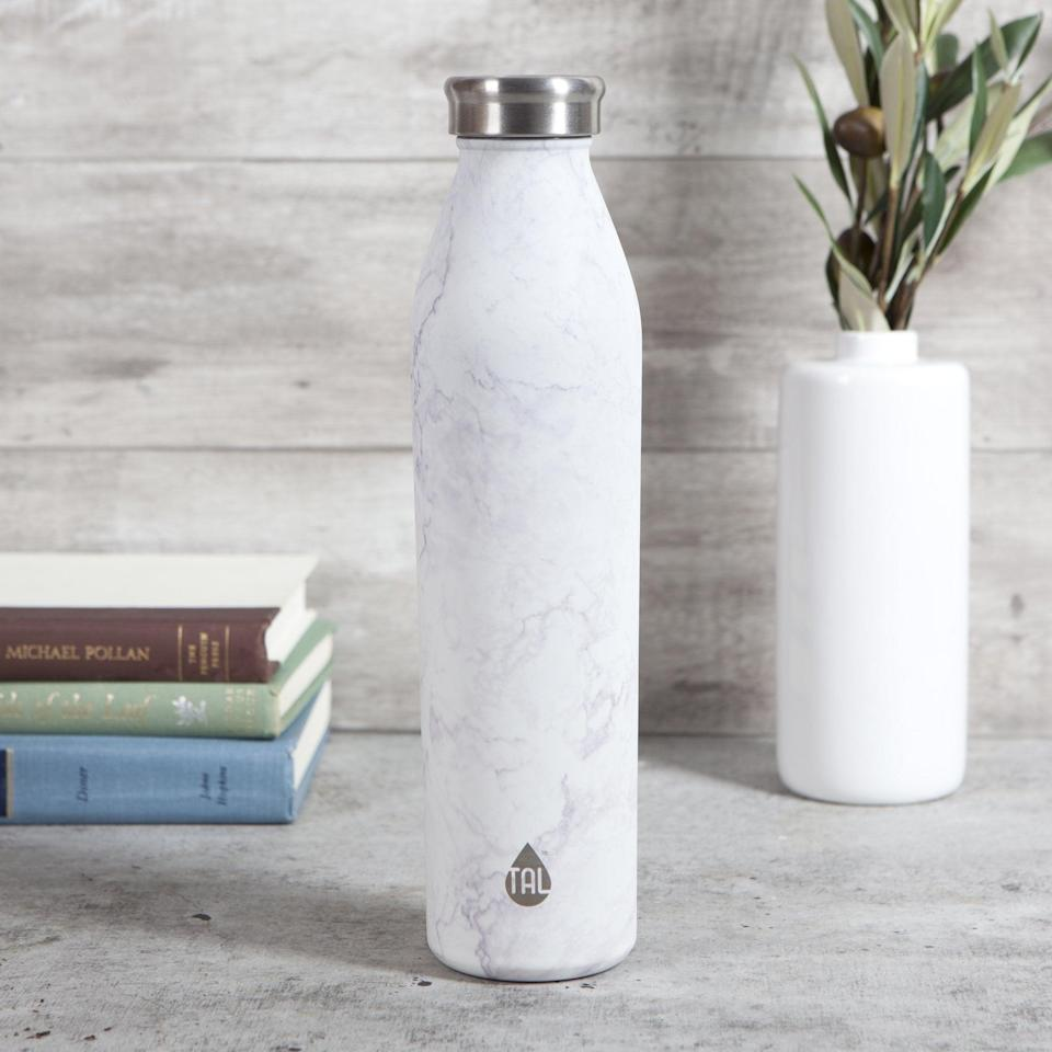 <p>The <span>Tal Stainless Vacuum Insulated Modern Water Bottle</span> ($10) is great if they're looking to support something sustainable.</p>