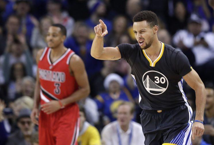 Curry can earn a contract valued at $209 million over five years. (AP)