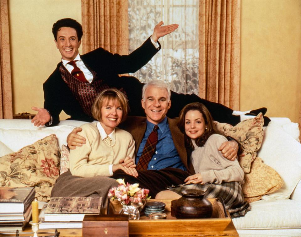 """<p><em>Father of the Bride 2 i</em>s a delightfully unhinged movie in which—spoiler alert—Diane Keaton and her 27-year-old daughter (Kimberly Williams-Paisley) find out they are both pregnant at the same time. Antics ensue! It's preposterous, heartwarming, and almost enough to convince you that being pregnant at the same time as your mom would be fun and charming. If nothing else, watch this one for the hilarious scene in which Martin Short does his best Jane Fonda and leads the two very pregnant women in an aerobics class. You'll never pull on a pair of bike shorts the same way again. — <em>Macaela Mackenzie, senior wellness editor</em></p> <p><a href=""""https://www.amazon.com/Father-Bride-Part-Theatrical-Version/dp/B072R146S8/ref=sr_1_1?dchild=1&keywords=Father+of+the+Bride+Part+II&qid=1592941757&s=instant-video&sr=1-1"""" rel=""""nofollow noopener"""" target=""""_blank"""" data-ylk=""""slk:Stream on Amazon Prime Video"""" class=""""link rapid-noclick-resp""""><em>Stream on Amazon Prime Video</em></a> </p>"""