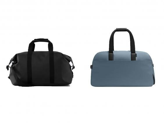 Keep all your stuff safely packed in these sturdy weekend bags ((left, Rains, right, Away))