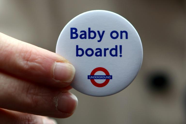 A Transport of London badge created to mark the 150th anniversary of the London Underground, on March 20, 2013