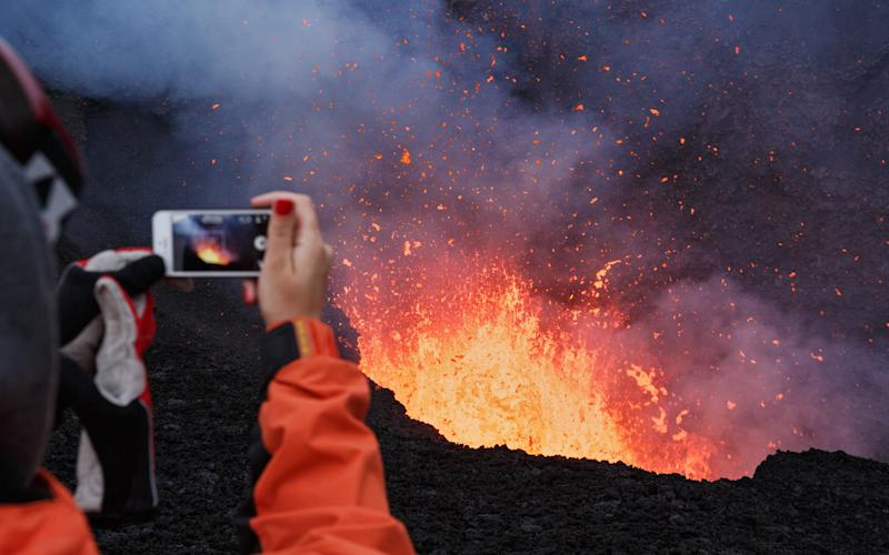 Not be the safest spot for a selfie - This content is subject to copyright.