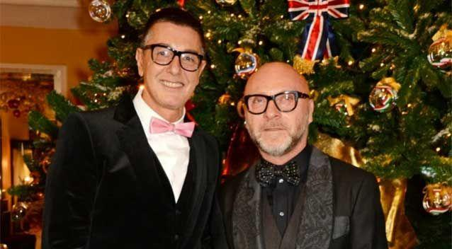billionaire Italian fashion designers Stefano Gabbana, left, and Domenico Dolce were reportedly used as an example by Eric Abetz in an attempt to demonstrate a claim that not all gay men want to marry. Photo: Getty