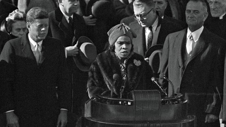 Marian Anderson performing at the inauguration of John F Kennedy in 1961