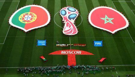 Soccer Football - World Cup - Group B - Portugal vs Morocco - Luzhniki Stadium, Moscow, Russia - June 20, 2018 General view before the match REUTERS/Kai Pfaffenbach