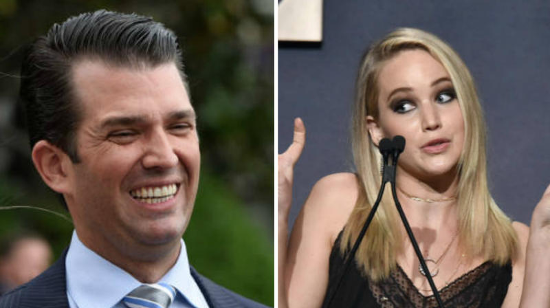 Donald Trump Jr. has responded to Jennifer Lawrence's Wednesday interview with Oprah for The Hollywood Reporter.