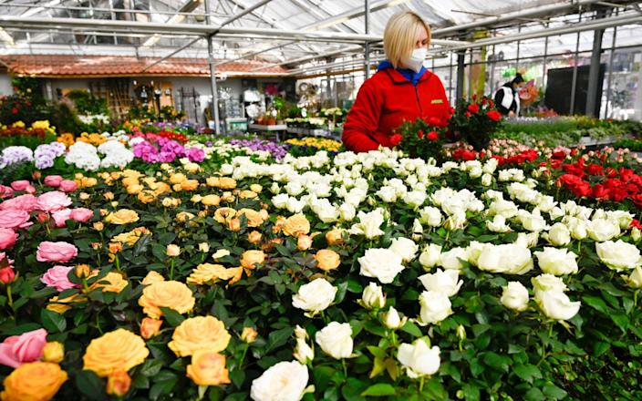 Some German states have allowed florists to reopen - AFP