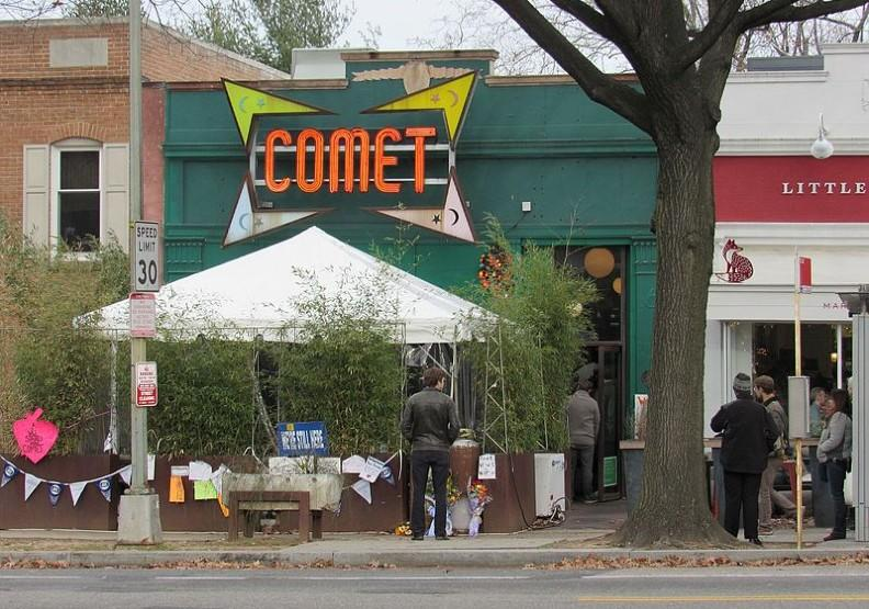 「彗星乒乓」(Comet Ping Pong)披薩店。wikimedia commons by Farragutful