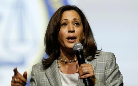 Democratic U.S. Presidential candidate Senator Kamala Harris addresses the audience during the Presidential candidate forum at the annual convention of the National Association for the Advancement of Colored People (NAACP), in Detroit