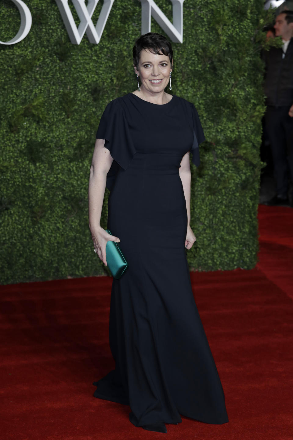 Olivia Colman wearing Prada. <em>[Photo: Getty]</em>