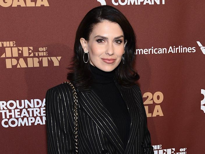 Hilaria Baldwin attends the Roundabout Theater's 2020 Gala on 2 March 2020 in New York City (Jamie McCarthy/Getty Images)