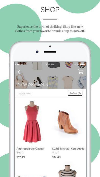 "thredUp is not your average consignment shop as it has hundreds of must-have styles showing up every minute. Download it <a href=""https://itunes.apple.com/us/app/thredup-buy-and-sell-clothing-for-women-and-kids/id499725337?mt=8"" target=""_blank"">here</a>."