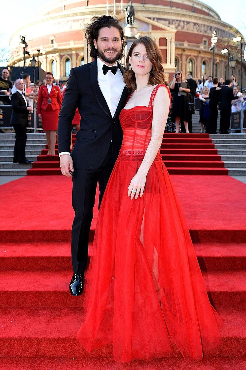 Rose Leslie and Kit Harington at the Olivier Awards 2017(Jeff Spicer/Getty)