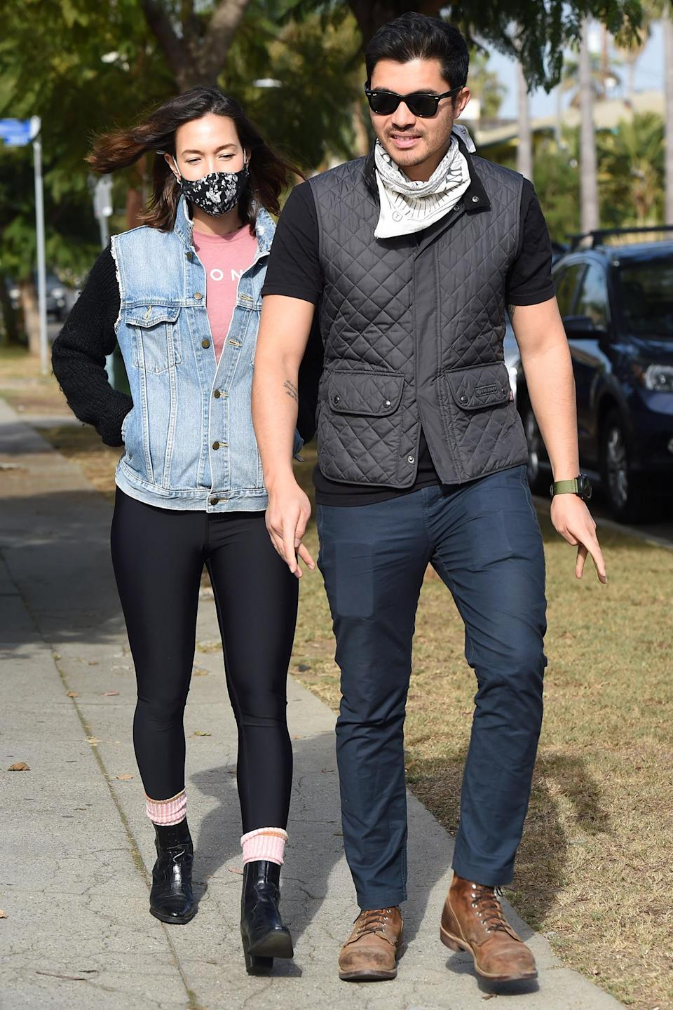 <p>Henry Golding and his pregnant wife Liv Lo grab were spotted out and about in Los Angeles.</p>
