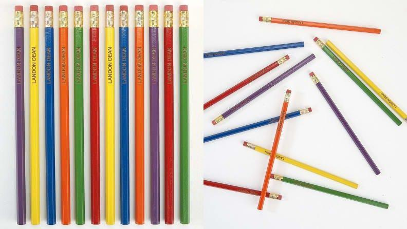 These vibrant customizable pencils are sure to leave a lasting impression on your child's instructor.