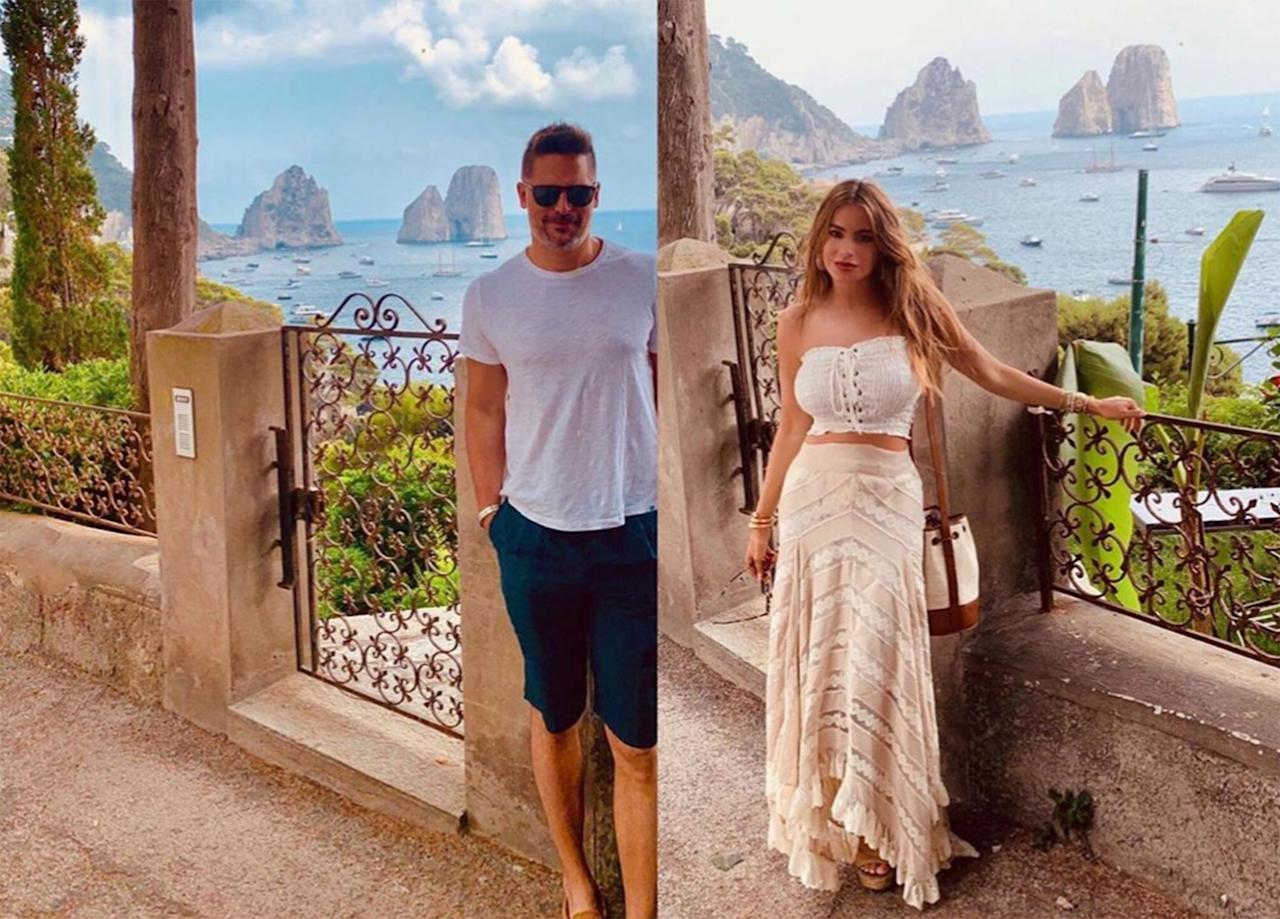 """The<em> Justice League</em> actor may be a dedicated Instagram Husband — please see all of wife Sofia Vergara's <a href=""""https://www.instagram.com/p/Bzp9d1fFV56/"""">posts</a> from their 5th anniversary <a href=""""https://people.com/tv/sofia-vergara-joe-manganiello-celebrate-5-years-dating-anniversary-italy/"""">trip to Italy</a> for reference — but when it comes to being on the other side of the lens, he apparently gets a bit camera shy. Vergara called him out on a slideshow he posted that included a photo of each of them posing in front of the same coastal background. """"Yes... we take each other's pictures,"""" Manganiello captioned the shots. """"Becaouse [sic] I force u!!!!"""" the <em>Modern Family</em> actress replied, in an exchange captured by <a href=""""https://www.instagram.com/p/Bzvlmcolouu/?igshid=wv8bgcnaztkh"""">Comments by Celebs</a>. I think we can all agree that we're lucky she does."""
