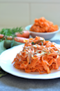 "<p>Meet carrot ribbons: The best way to make a simple dish look incredibly fancy. </p><p><em><a href=""https://littlebitsof.com/2017/04/tahini-dill-carrot-noodles/"" rel=""nofollow noopener"" target=""_blank"" data-ylk=""slk:Get the recipe from Little Bits Of »"" class=""link rapid-noclick-resp"">Get the recipe from Little Bits Of »</a></em></p><p><strong>What you'll need: </strong>vegetable peeler ($9, <a href=""https://www.amazon.com/OXO-Good-Grips-Swivel-Peeler/dp/B00004OCIP/ref=sr_1_4?tag=syn-yahoo-20&ascsubtag=%5Bartid%7C10055.g.19578681%5Bsrc%7Cyahoo-us"" rel=""nofollow noopener"" target=""_blank"" data-ylk=""slk:amazon.com"" class=""link rapid-noclick-resp"">amazon.com</a>)</p>"