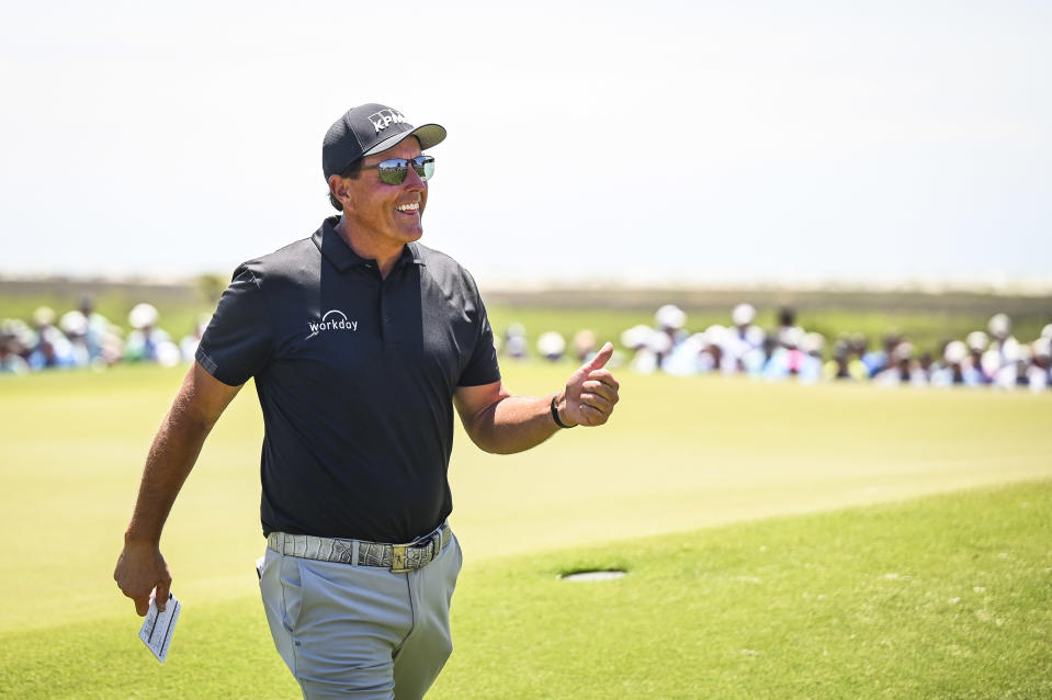 Phil Mickelson at the 2021 PGA Championship