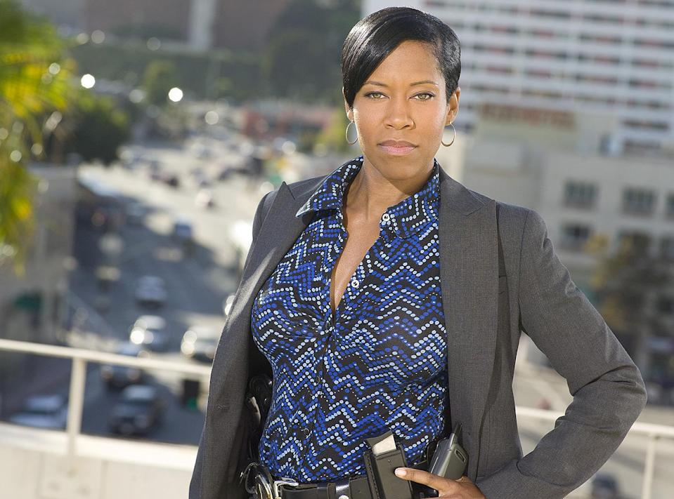 """<p>From 2009 on, King remained a fixture on television as Detective Lydia Adams in <em>Southland</em>, a role that grew to mean more to women, especially Black women, who had rarely seen themselves represented onscreen as a lead in an hour-long drama.</p> <p>""""I'm just really thankful to have the chance to portray a character you don't see every day,'' King told the <em><a href=""""https://www.thedailybeast.com/regina-king-southland-star-defies-tv-stereotypes-of-black-women"""" rel=""""nofollow noopener"""" target=""""_blank"""" data-ylk=""""slk:Daily Beast"""" class=""""link rapid-noclick-resp"""">Daily Beast</a></em>. """"I have women come up to me all the time and say that exact thing to me. They say they love my character and how she is a real woman with a real career that they believe. People love to see themselves on screen in a way that makes sense and seems on point.""""</p>"""