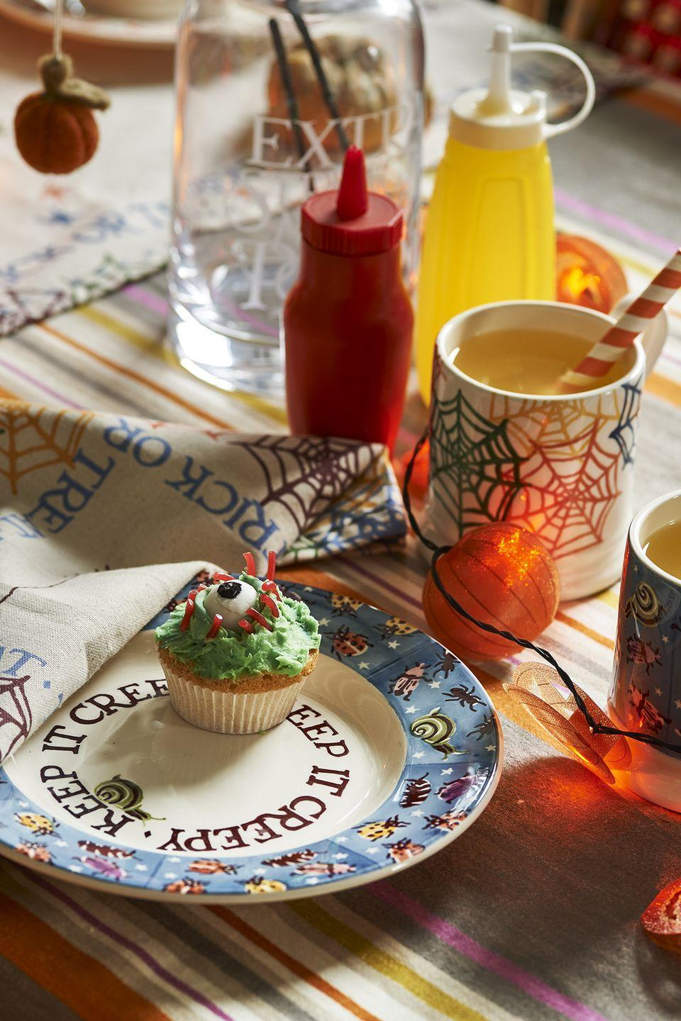 """<p>Turn your home into a haunted house with help from Emma Bridgewater's new <a href=""""https://www.housebeautiful.com/uk/decorate/looks/g33883780/best-halloween-decorations/"""" rel=""""nofollow noopener"""" target=""""_blank"""" data-ylk=""""slk:Halloween"""" class=""""link rapid-noclick-resp"""">Halloween</a>-inspired collection. Creepy crockery includes spiderwebs on bowls, insects on mugs and buckets adorned with pumpkin jack-o-lanterns.</p><p><a class=""""link rapid-noclick-resp"""" href=""""https://go.redirectingat.com?id=127X1599956&url=https%3A%2F%2Fwww.emmabridgewater.co.uk%2Fcollections%2Fhalloween&sref=https%3A%2F%2Fwww.housebeautiful.com%2Fuk%2Flifestyle%2Fshopping%2Fg37527696%2Femma-bridgewater-autumn-range%2F"""" rel=""""nofollow noopener"""" target=""""_blank"""" data-ylk=""""slk:SHOP THE RANGE"""">SHOP THE RANGE</a></p>"""