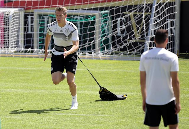 Soccer Football - FIFA World Cup - Germany Training - Eppan, Italy - June 5, 2018 Germany's Matthias Ginter during training REUTERS/Lisi Niesner
