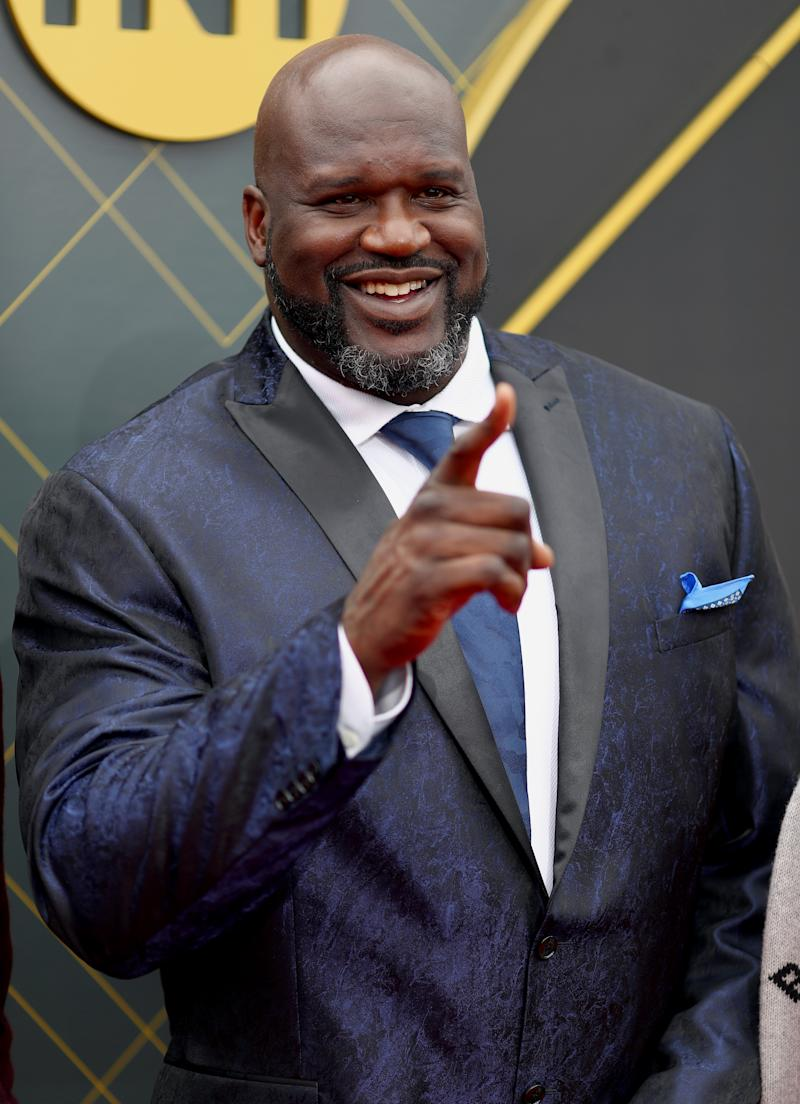 SANTA MONICA, CALIFORNIA - JUNE 24: Shaquille O'Neal attends the 2019 NBA Awards presented by Kia on TNT at Barker Hangar on June 24, 2019 in Santa Monica, California. (Photo by Joe Scarnici/Getty Images for Turner Sports)