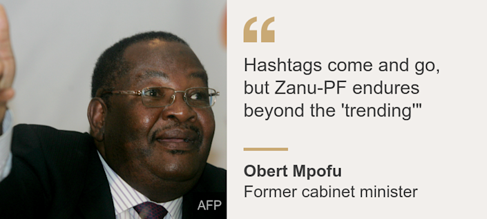 """Hashtags come and go, but Zanu-PF endures beyond the 'trending'"""", Source: Obert Mpofu, Source description: Former cabinet minister, Image: Obert Mpofu"
