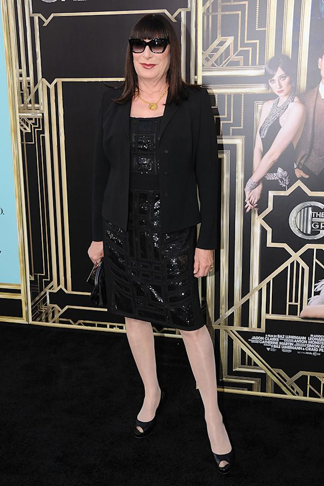 "Anjelica Huston attends the ""The Great Gatsby"" world premiere at Avery Fisher Hall at Lincoln Center for the Performing Arts on May 1, 2013 in New York City."