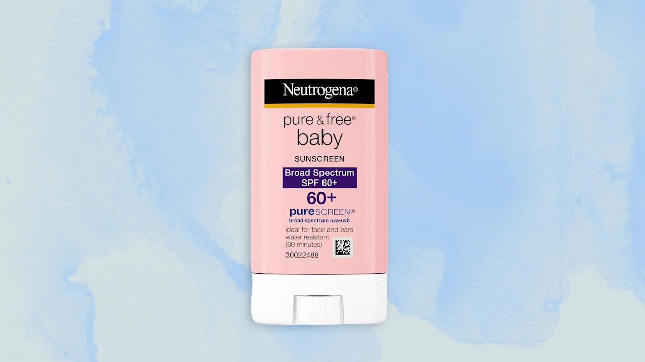 """<p><strong>Best baby sunscreen</strong></p> <p>Babies have incredibly delicate skin, which is why Neutrogena's specially formulated baby mineral sunscreen stick is a must buy for parents. It's made with 100 percent naturally-sourced ingredients and has Purescreen technology to absorb, reflect, and scatter dangerous sun rays. The stick allows for easy packing and application—you can glide it over any part of your little one's body—and because it's an oil-free formula, there won't be any greasy feeling left behind.</p> <p><strong>Buy Now:</strong> <a href=""""https://amzn.to/2tNjqB5"""" rel=""""nofollow"""" target=""""_blank"""">$27 for a pack of three, amazon.com</a></p>"""