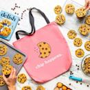 """<p>delish.com</p><p><strong>$25.00</strong></p><p><a href=""""https://store.delish.com/chip-happens-tote-bag.html"""" rel=""""nofollow noopener"""" target=""""_blank"""" data-ylk=""""slk:Shop Now"""" class=""""link rapid-noclick-resp"""">Shop Now</a></p><p>Moral support in the form of a funny tote bag. </p>"""