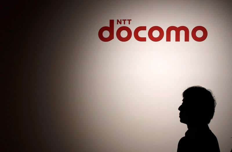 FILE PHOTO: The logo of NTT Docomo is seen during its flagship shop's reopening event in Tokyo