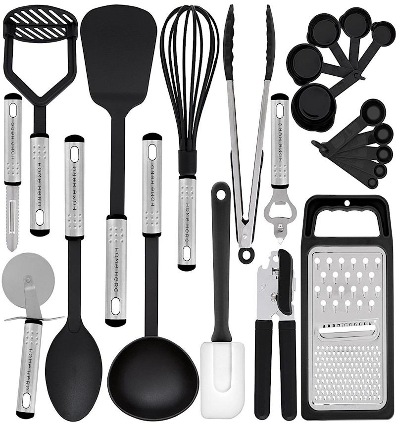 "Get it <a href=""https://www.amazon.com/Kitchen-Utensil-Set-Utensils-Cookware/dp/B075MDQ977/ref=sr_1_5?ie=UTF8&qid=1520452926&sr=8-5&keywords=kitchen+tool+set"" target=""_blank"">here</a> for $20."