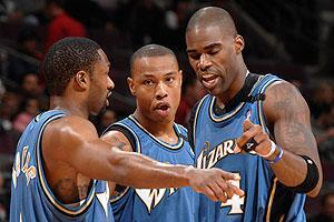 Gilbert Arenas, Caron Butler and Antawn Jamison have watched the Wizards lose six straight by four points or less