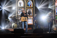 Alan Jackson performs at the 56th annual Academy of Country Music Awards on Thursday, April 15, 2021 at the Ryman Auditorium in Nashville, Tenn. The awards show airs on April 18 with both live and prerecorded segments. (Photo by Amy Harris/Invision/AP)