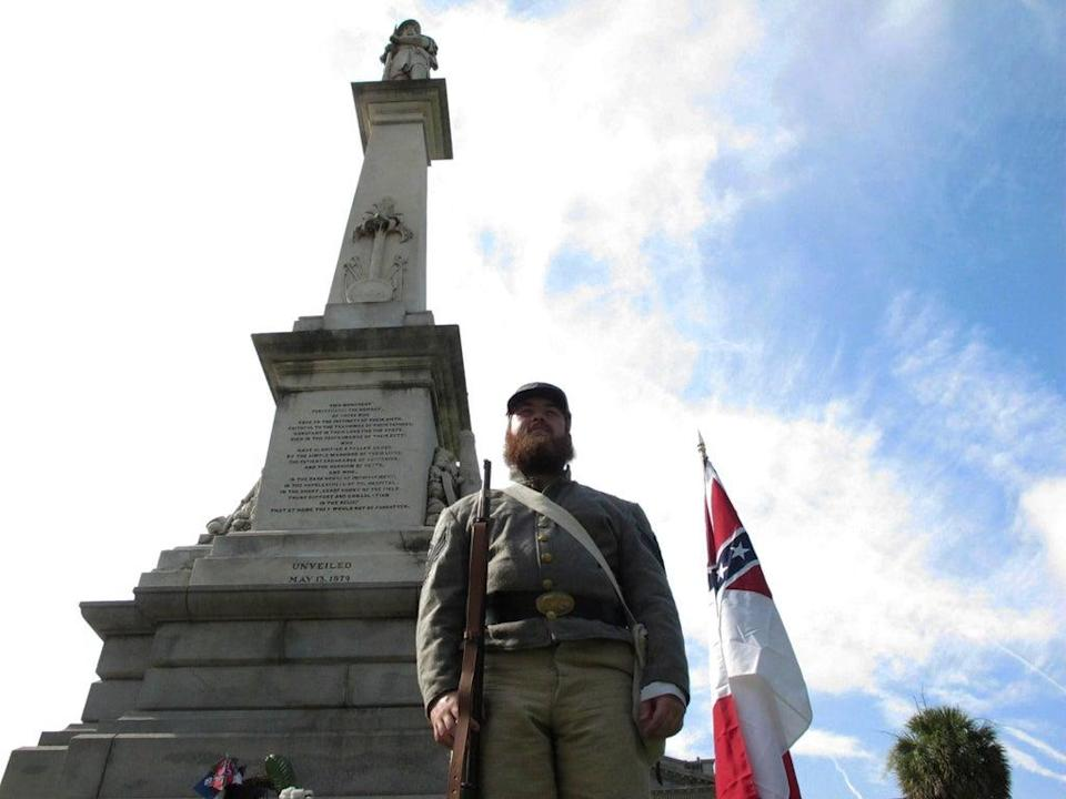 Confederate Monuments South Carolina (Copyright 2021 The Associated Press. All rights reserved.)
