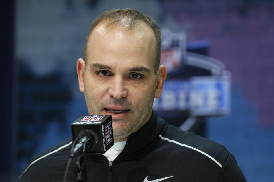 Jacksonville Jaguars general manager Dave Caldwell was fired on Sunday. (AP Photo/Charlie Neibergall, File)