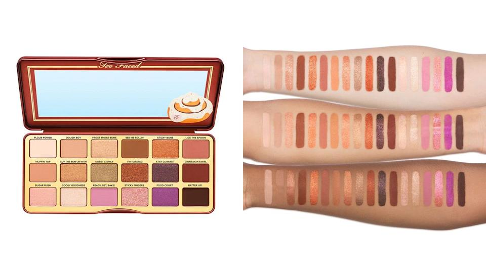 Play up your eyes this fall with the Cinnamon Swirl eyeshadow palette from TooFaced.